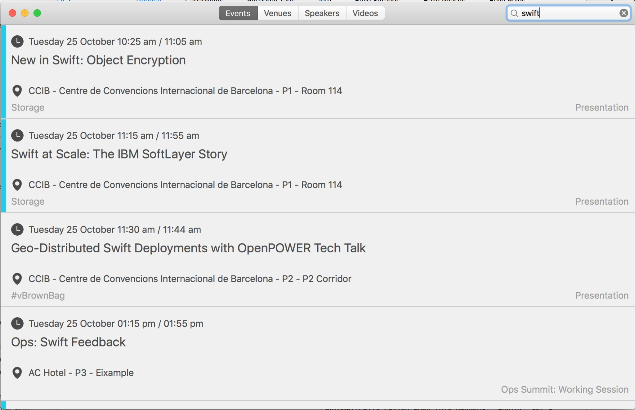 Screenshot 5 for OpenStackSummit