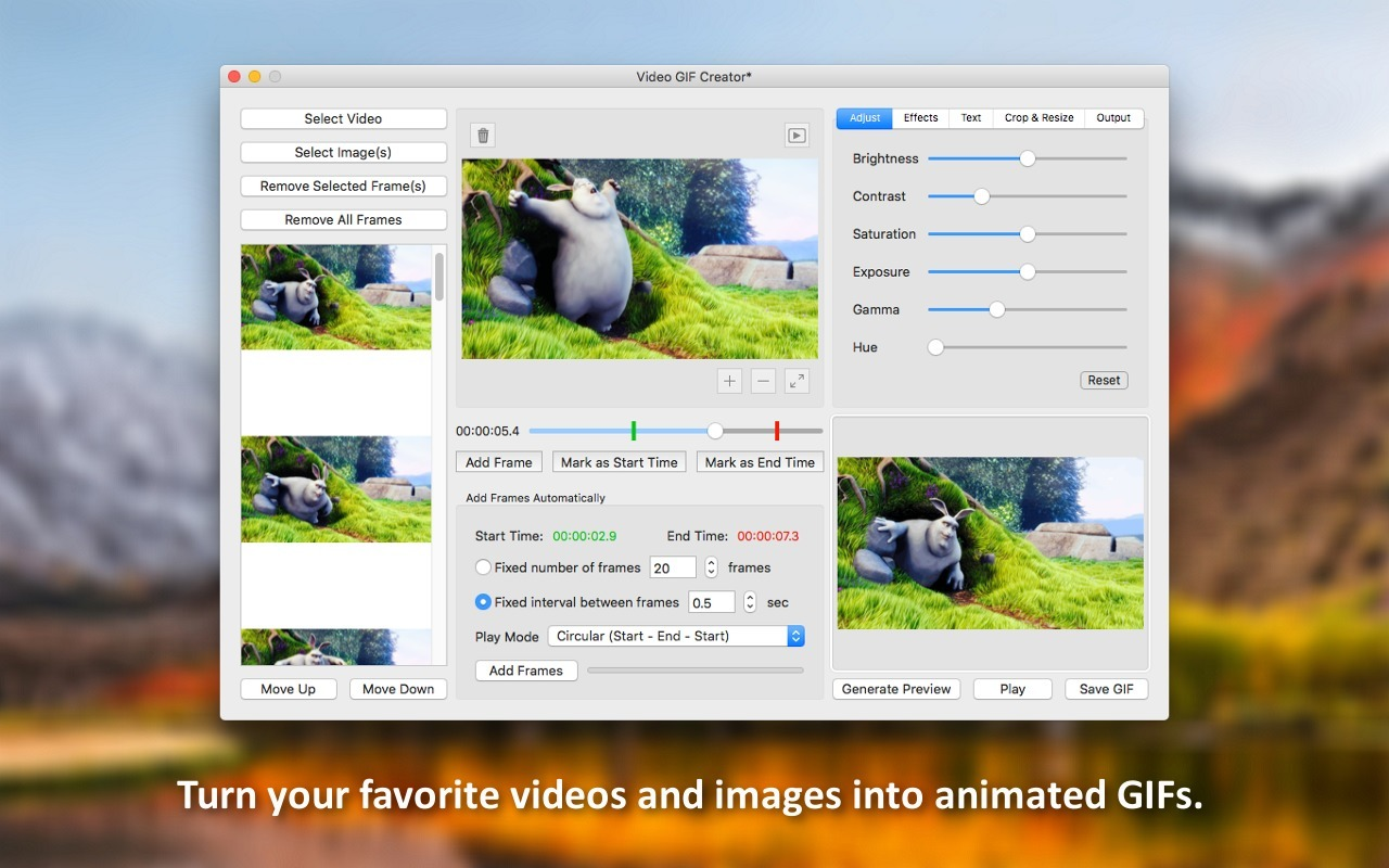 Video GIF Creator 1.1 free download for Mac | MacUpdate