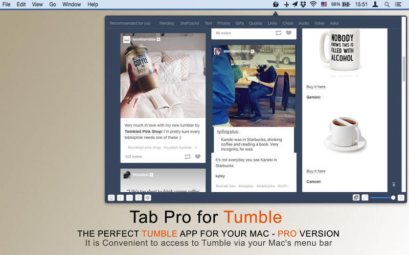 Screenshot 4 for MenuTab Pro for Tumblr