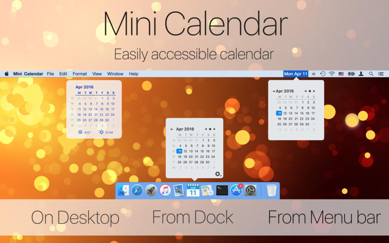 Screenshot 1 for Mini Calendar