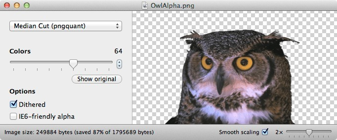 ImageAlpha for Mac