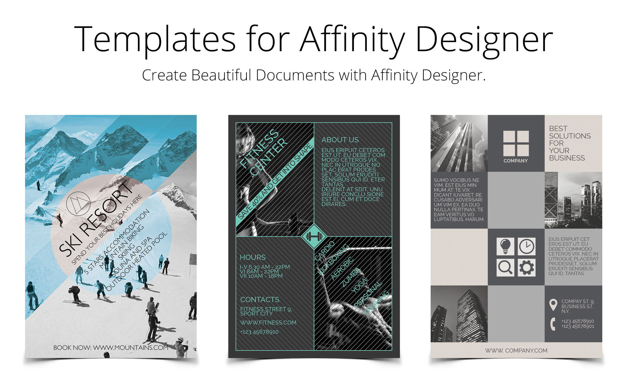 Screenshot 1 for Templates for Affinity Designer