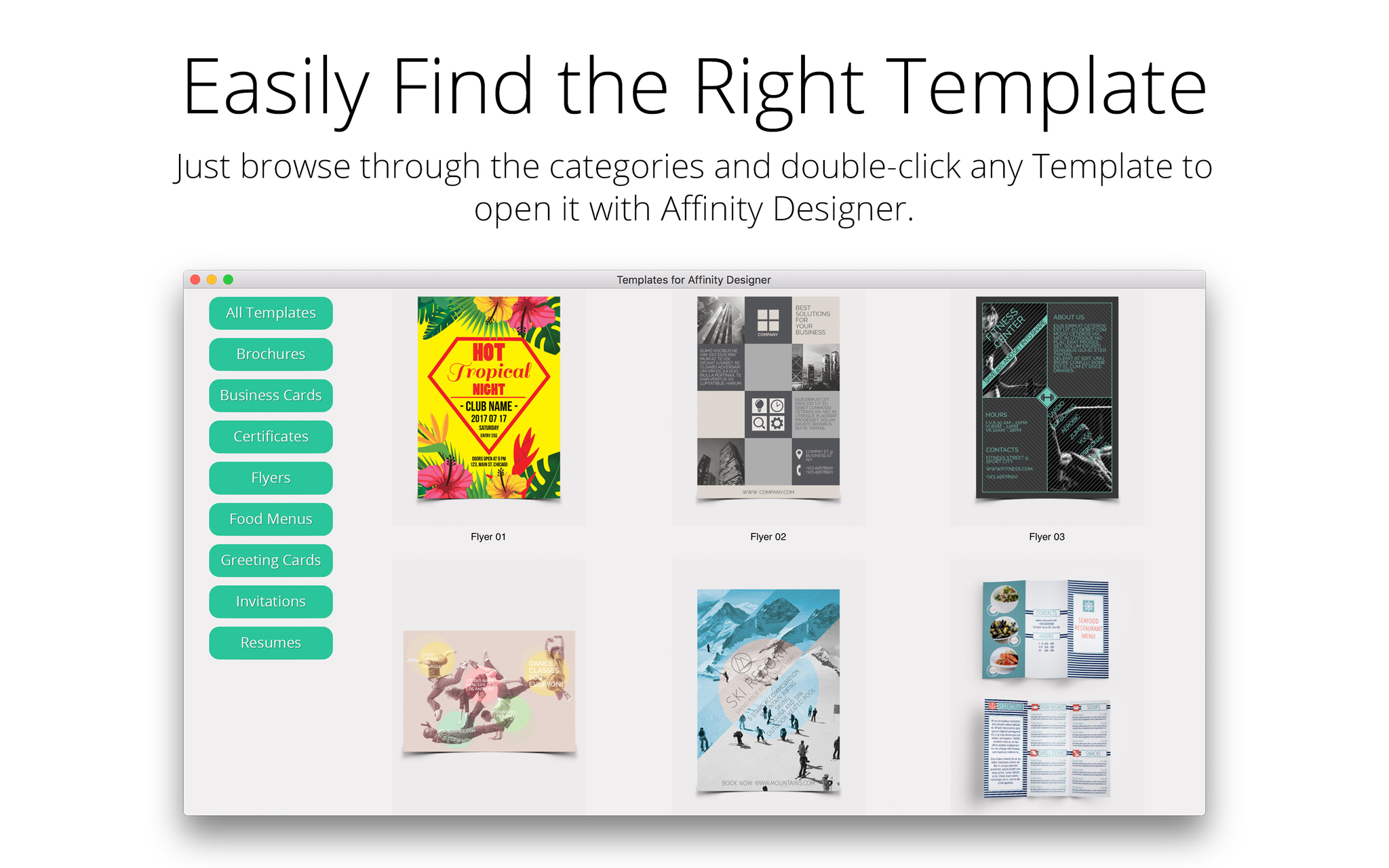Screenshot 3 for Templates for Affinity Designer