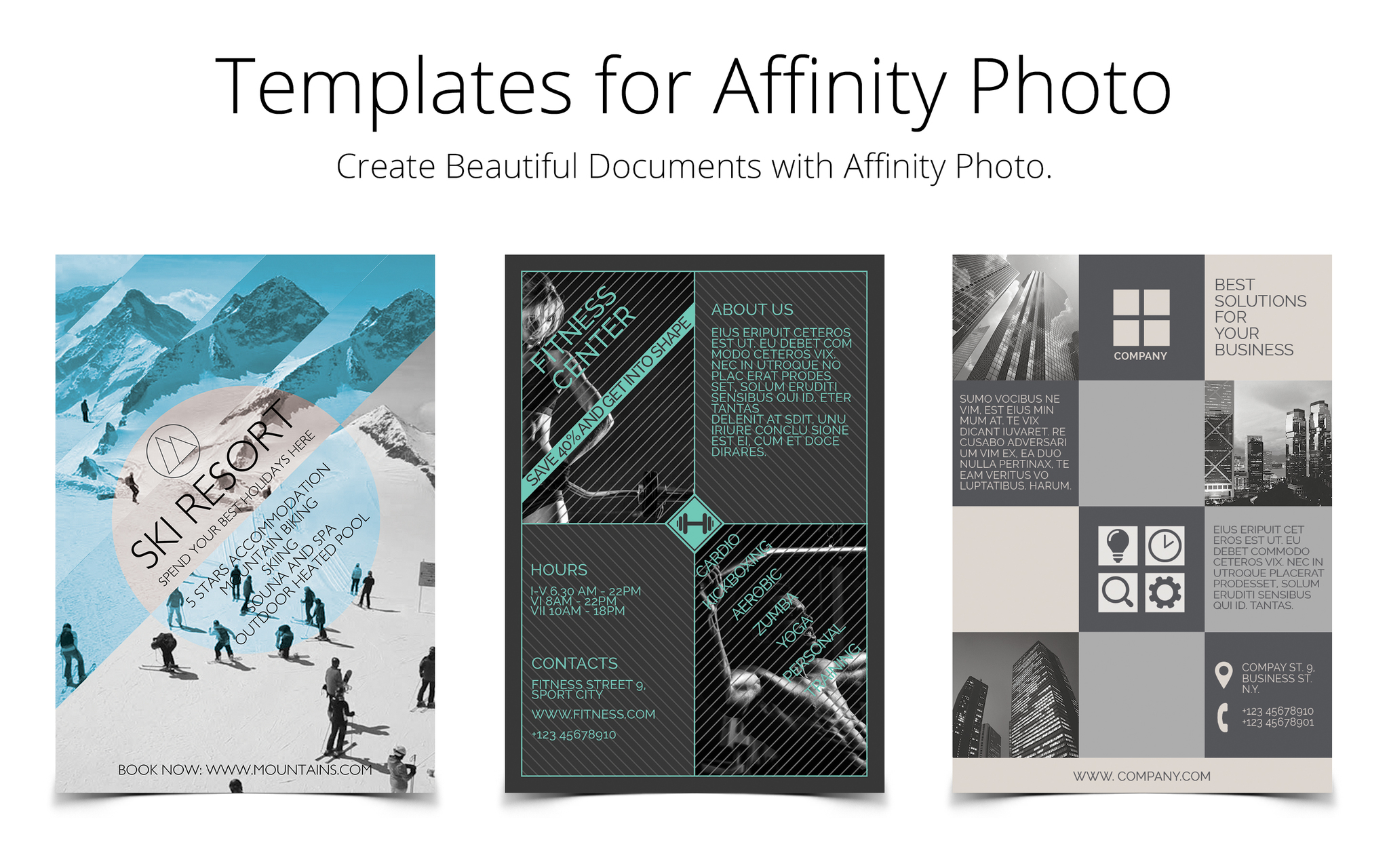 Screenshot 1 for Templates for Affinity Photo