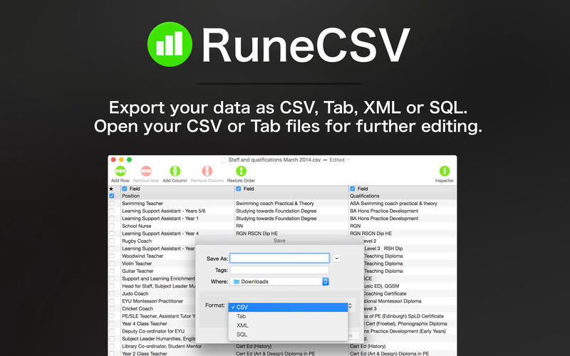 Screenshot 2 for RuneCSV