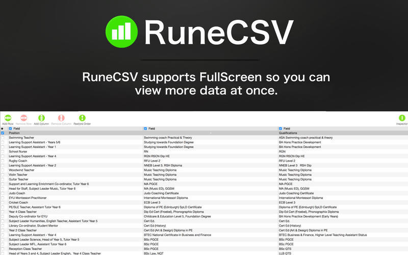 Screenshot 3 for RuneCSV