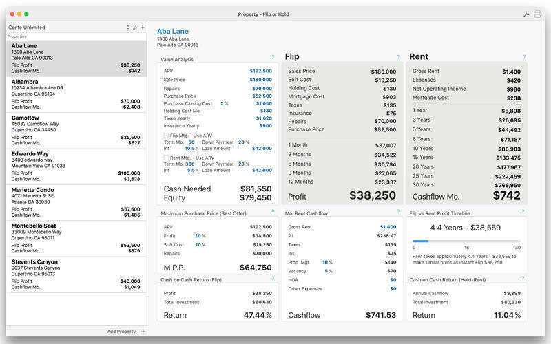 Screenshot 1 for Property Flip or Hold