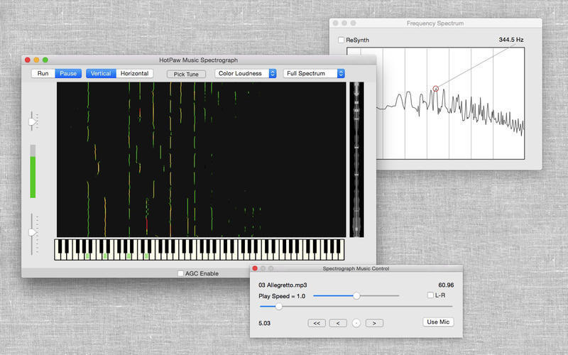 Screenshot 1 for Music Spectrograph