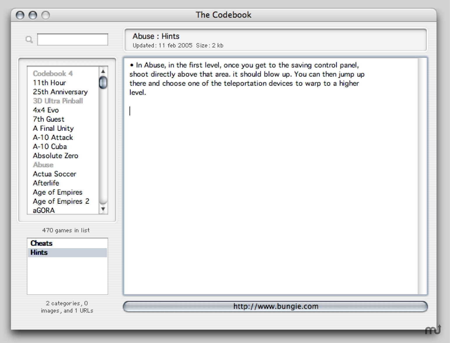Screenshot 1 for Codebook