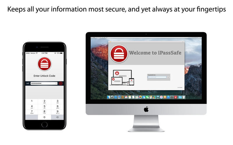 Screenshot 1 for iPassSafe