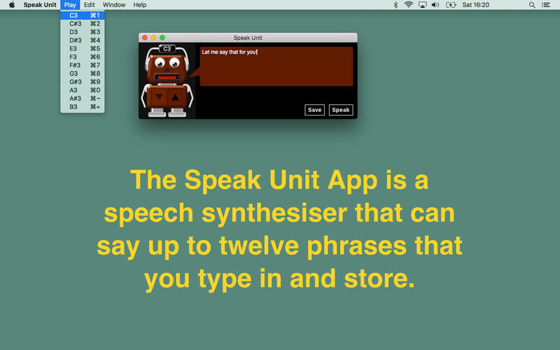 Screenshot 1 for Speak Unit