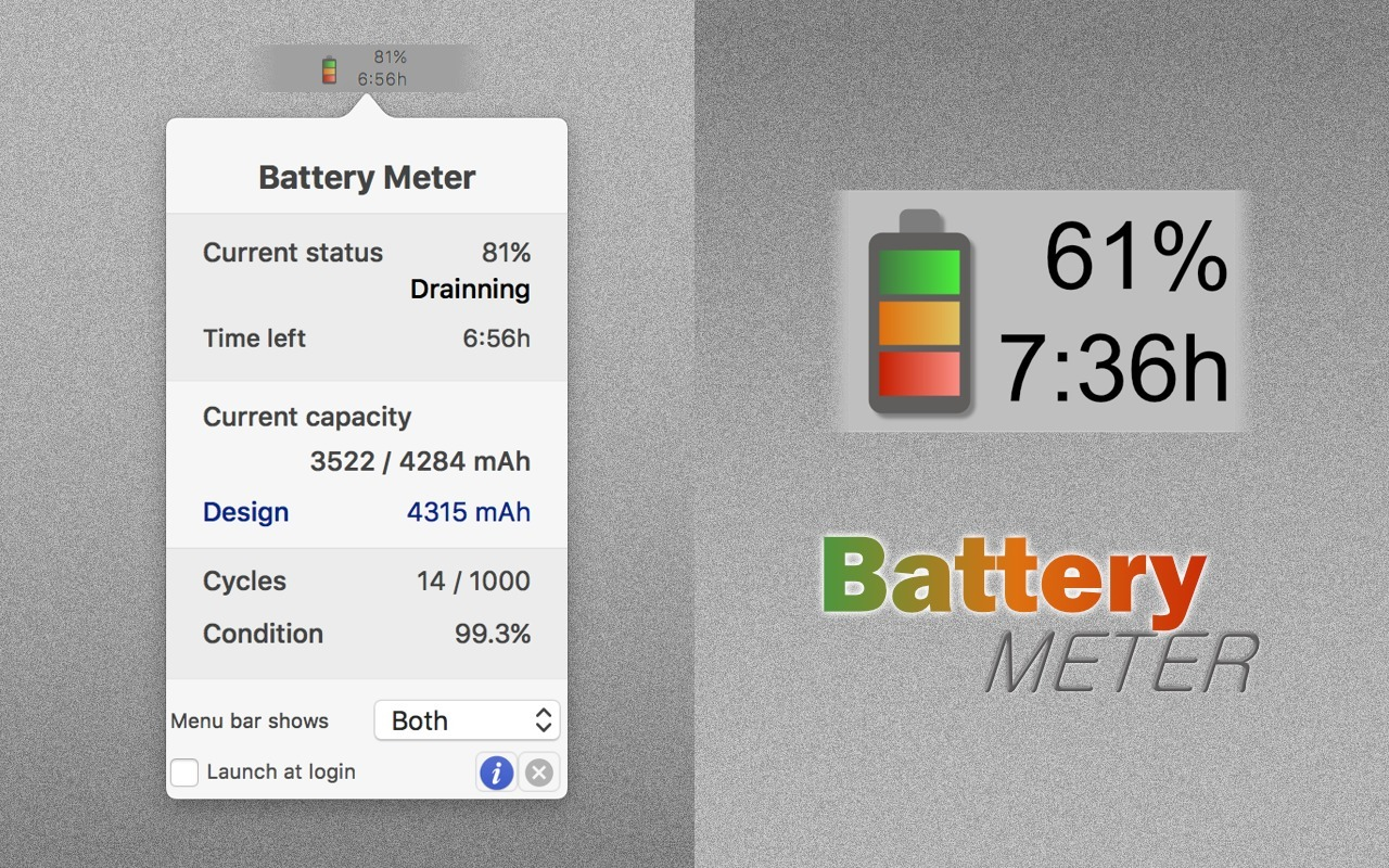 Screenshot 1 for Battery Meter