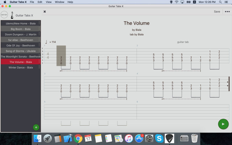 Screenshot 1 for Guitar Tabs X