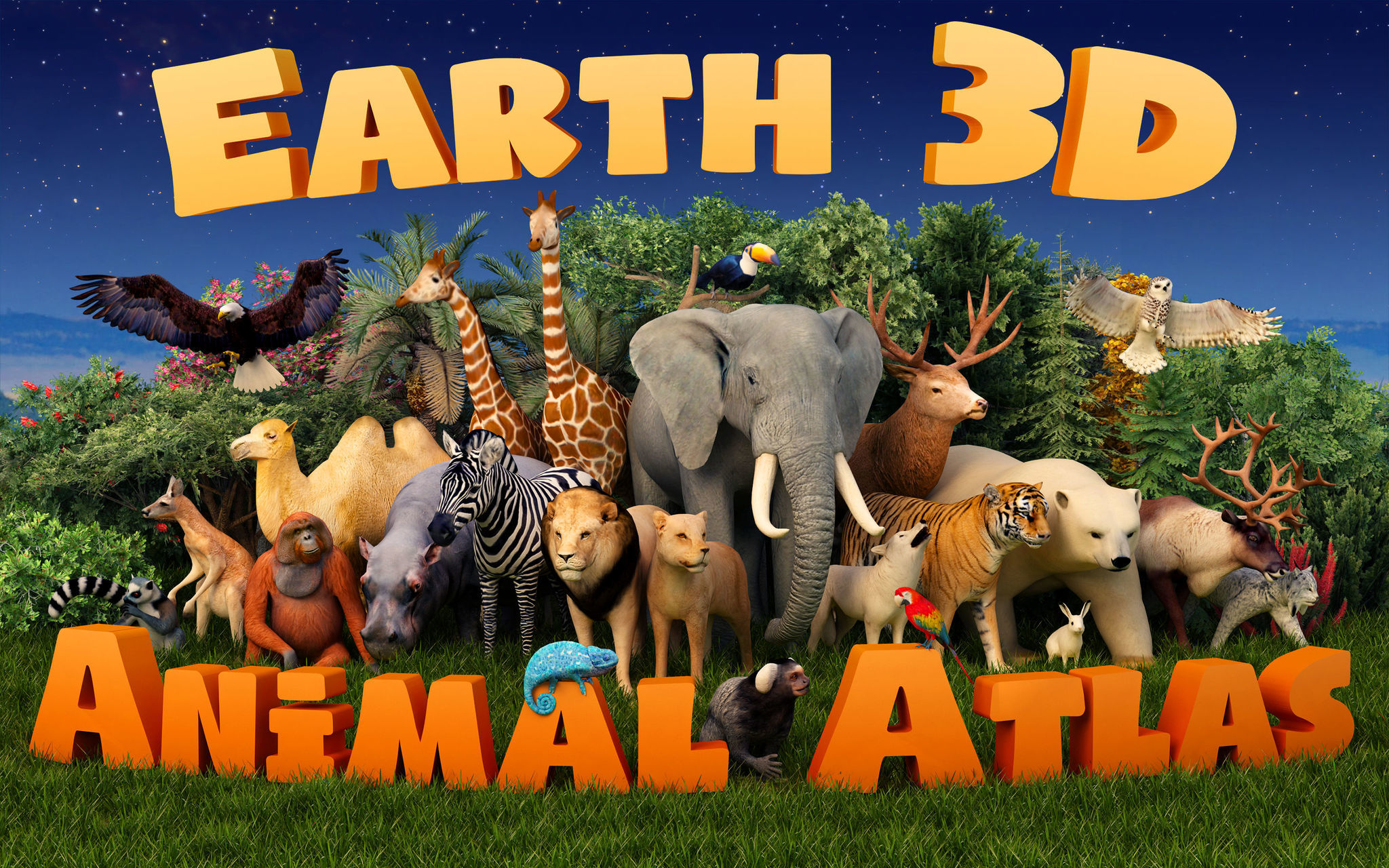 Screenshot 1 for Earth 3D Animal Atlas