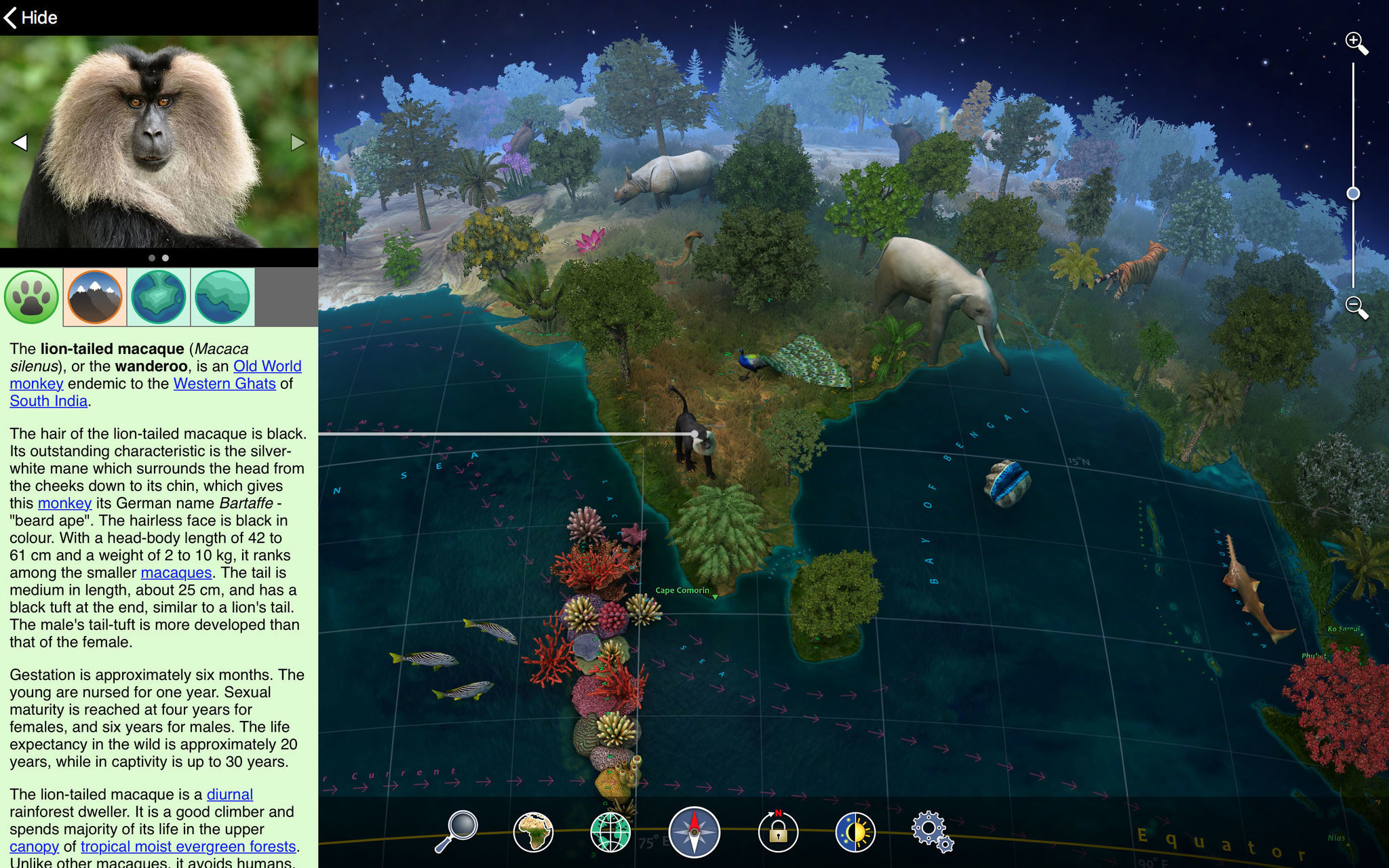 Screenshot 2 for Earth 3D Animal Atlas