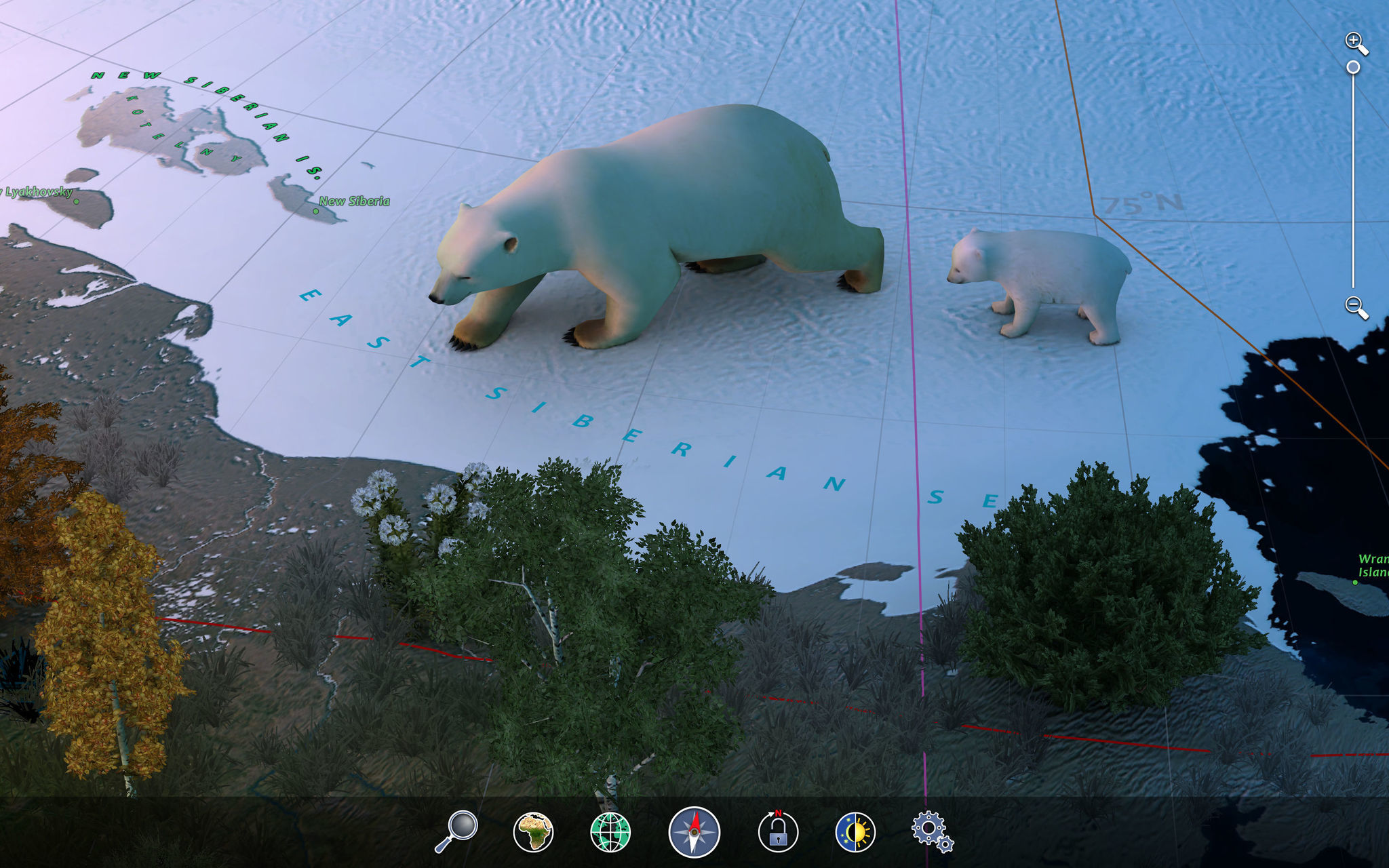 Screenshot 4 for Earth 3D Animal Atlas