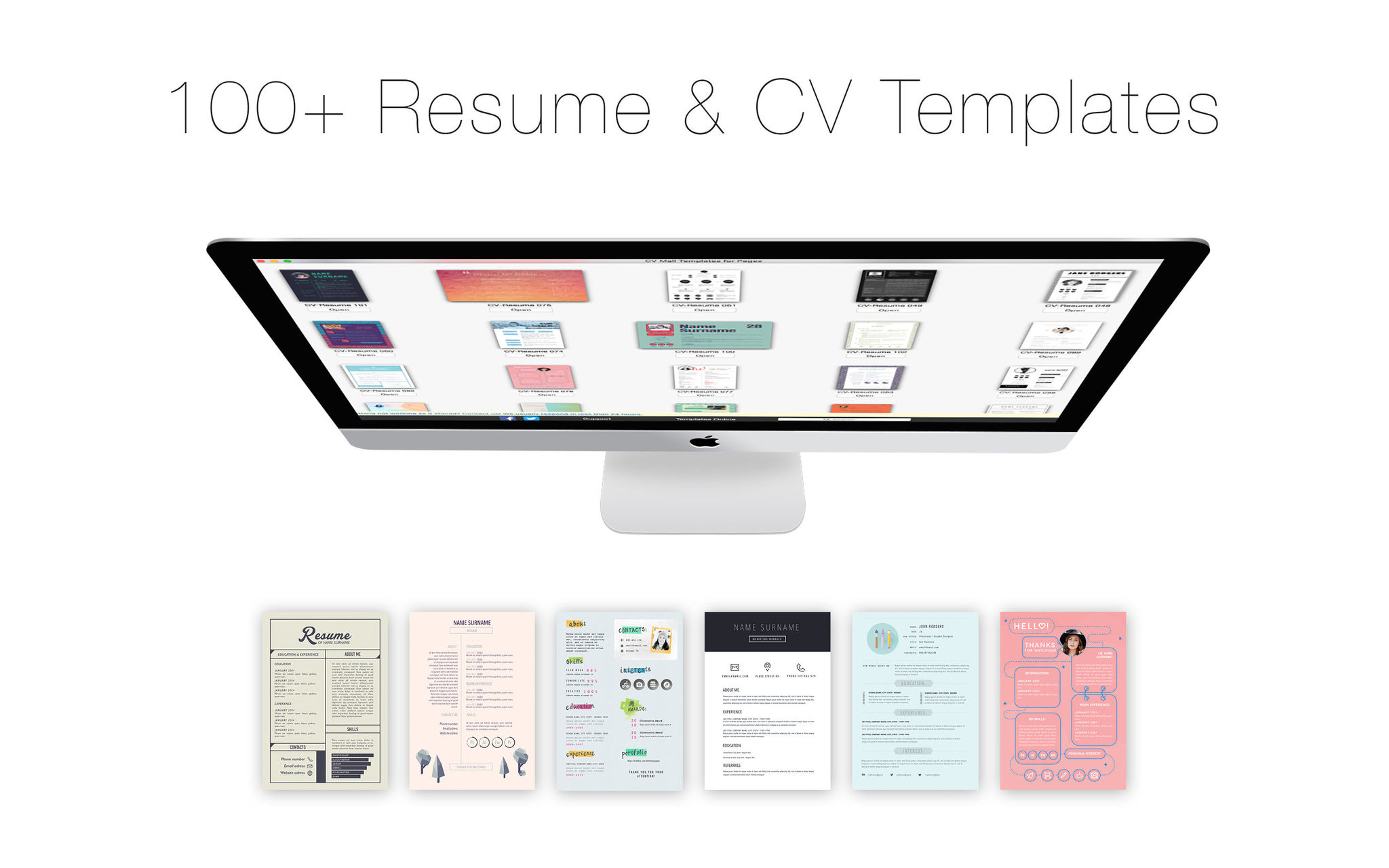 Screenshot 1 for CV Mall Templates for Pages