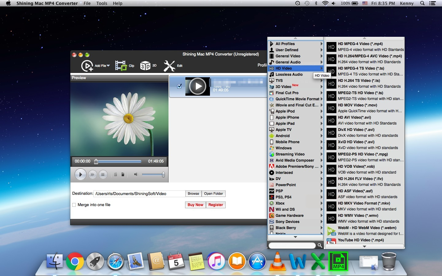 Screenshot 1 for Shining MP4 Converter