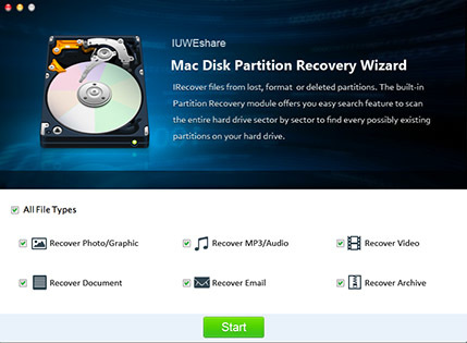 Screenshot 1 for Disk Partition Recovery Wizard