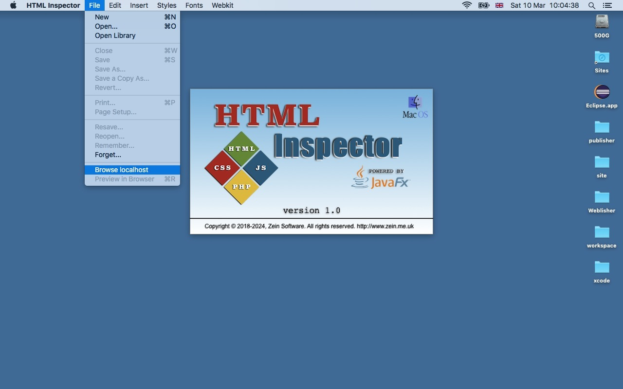 Screenshot 1 for HTML Inspector