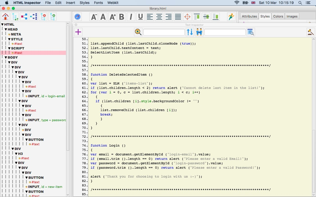 Screenshot 3 for HTML Inspector