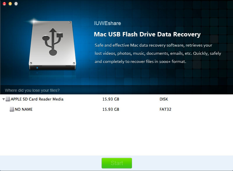 Screenshot 1 for USB Flash Drive Data Recovery