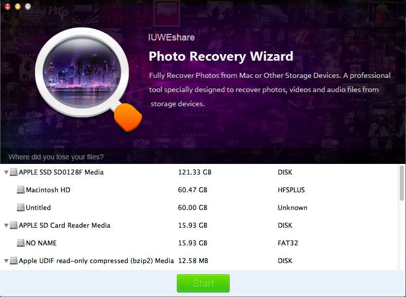 Screenshot 1 for Photo Recovery Wizard