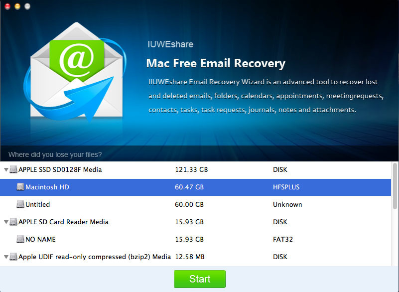 Screenshot 1 for Email Recovery Pro