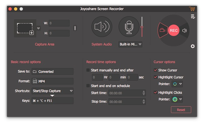 Screenshot 4 for Joyoshare Screen Recorder