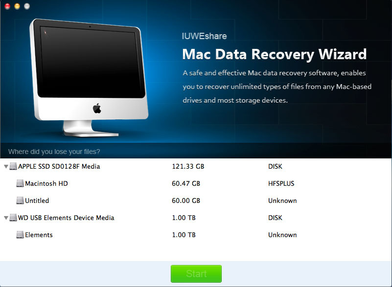 Screenshot 1 for Data Recovery Wizard