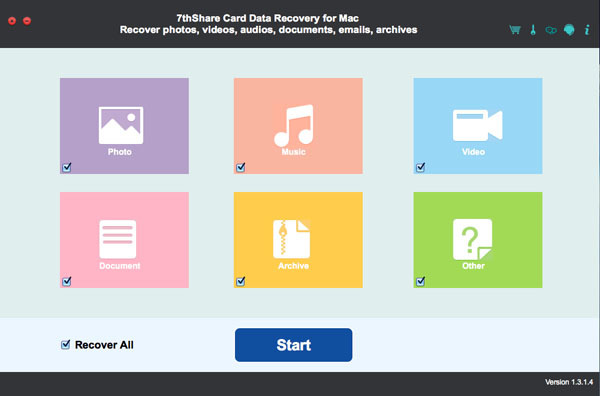 Screenshot 1 for 7thShare Card Data Recovery
