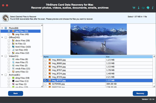 Screenshot 2 for 7thShare Card Data Recovery
