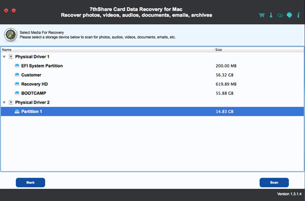 Screenshot 4 for 7thShare Card Data Recovery