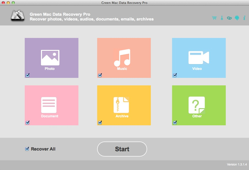 Screenshot 1 for Green Mac Data Recovery Pro