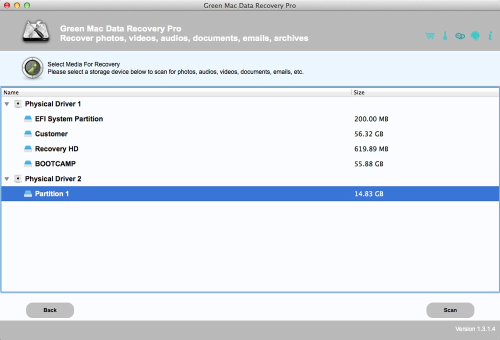 Screenshot 2 for Green Mac Data Recovery Pro