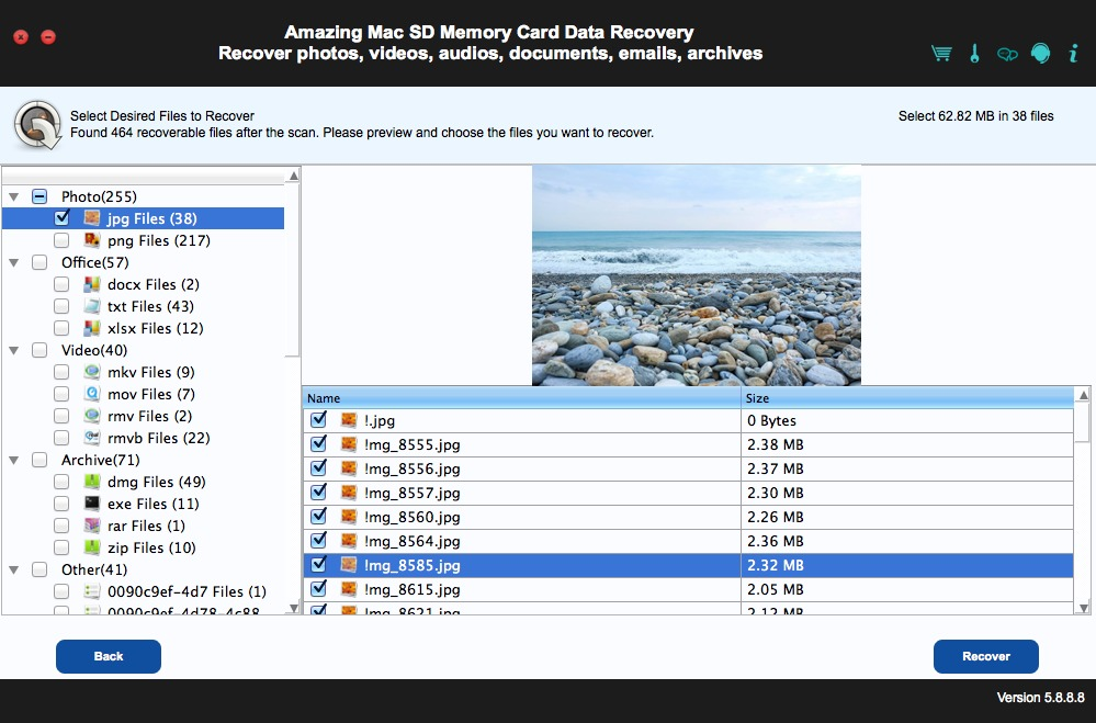 Screenshot 1 for SD Memory Card Data Recovery