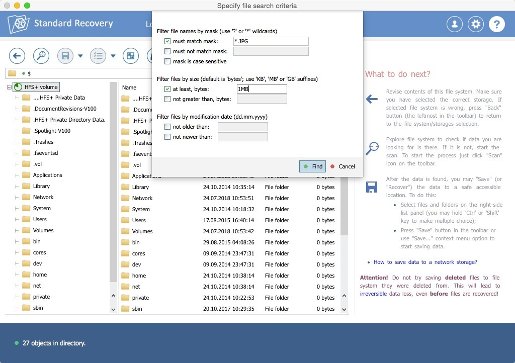 Screenshot 1 for Recovery Explorer Standard