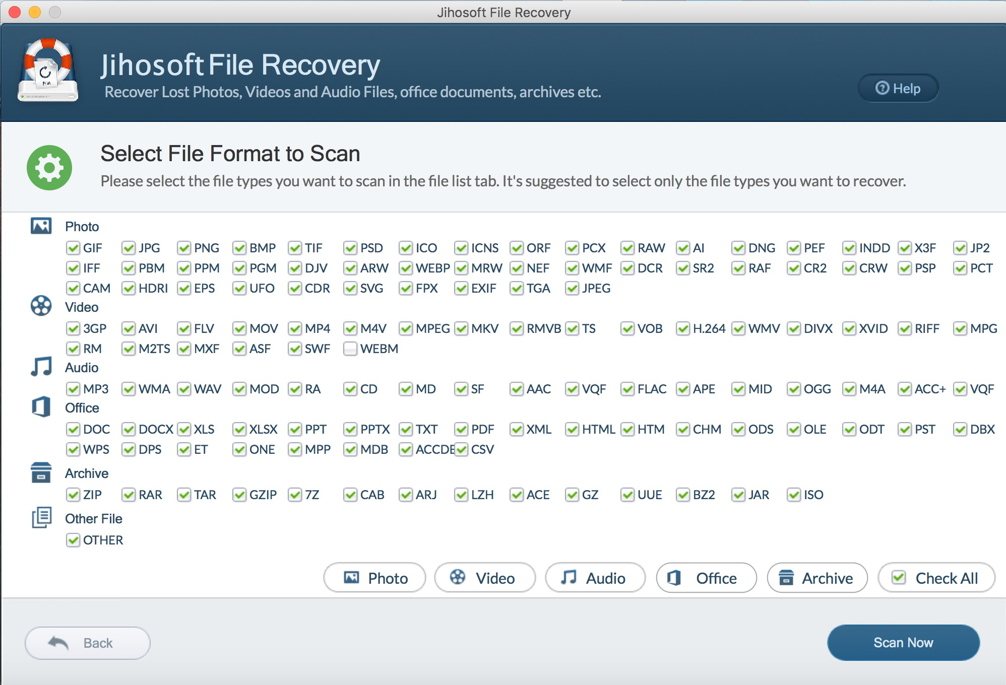 Screenshot 1 for Jihosoft File Recovery