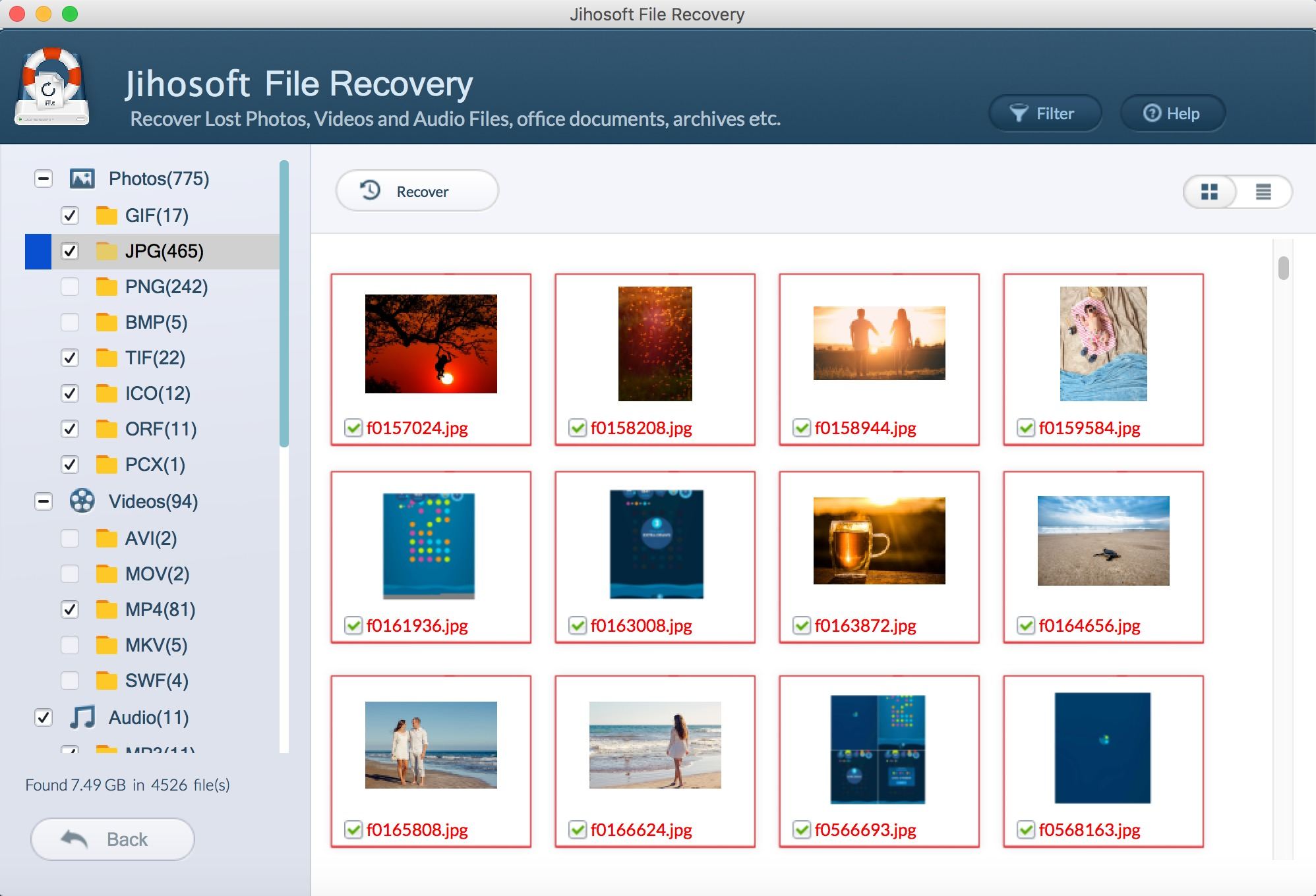 Screenshot 5 for Jihosoft File Recovery