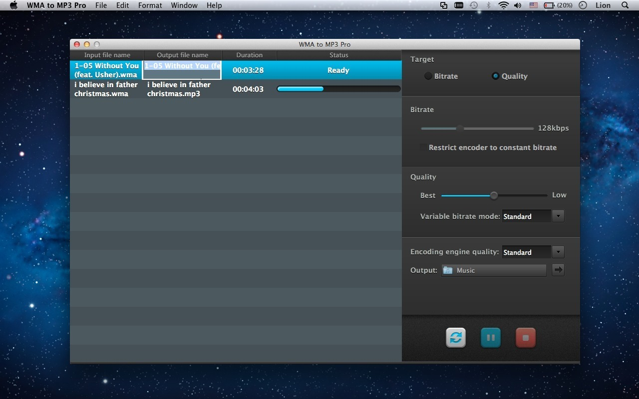 Screenshot 1 for WMA to MP3 Pro