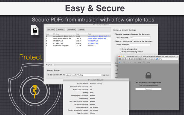 Screenshot 1 for PDF Security Pro Edition