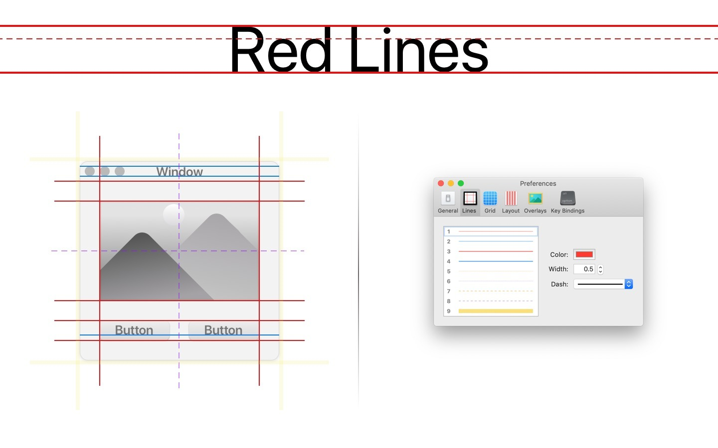 Red Lines Tools for Mac