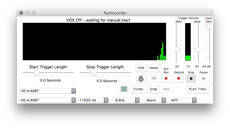 Screenshot 1 for Audiocorder