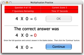 Screenshot 2 for Master the Facts Multiplication