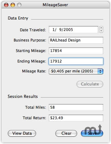 Screenshot 1 for MileageSaver