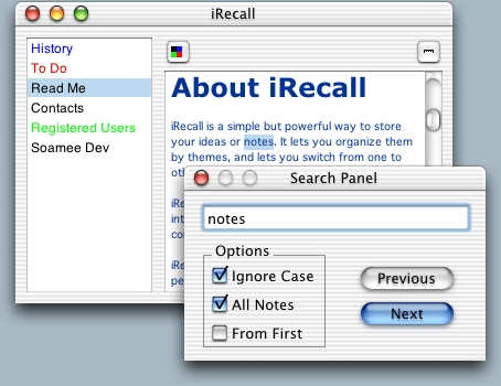 Screenshot 1 for iRecall