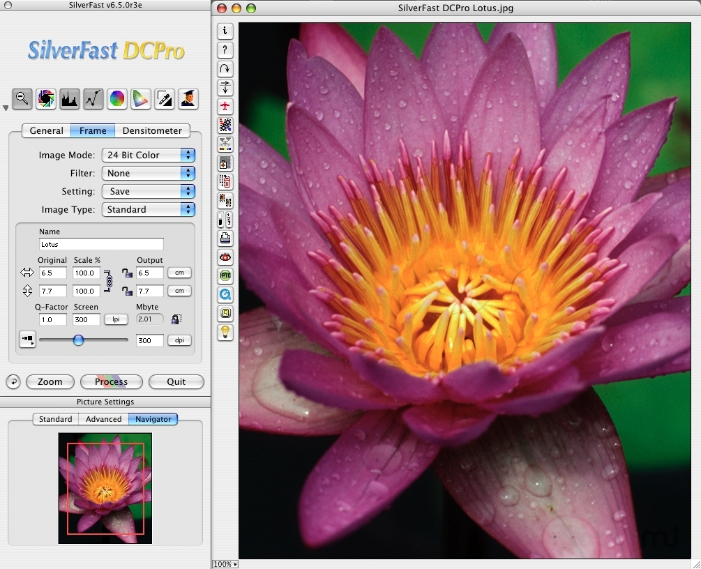 Screenshot 1 for SilverFast DC Pro digital camera