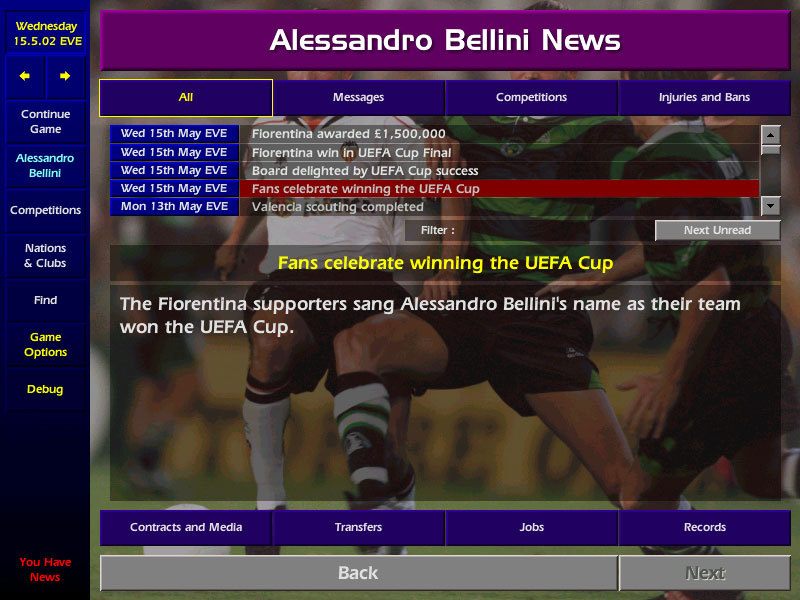 Screenshot 1 for Championship Manager 03/04