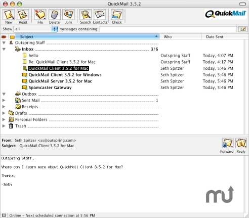 Screenshot 1 for QuickMail Client