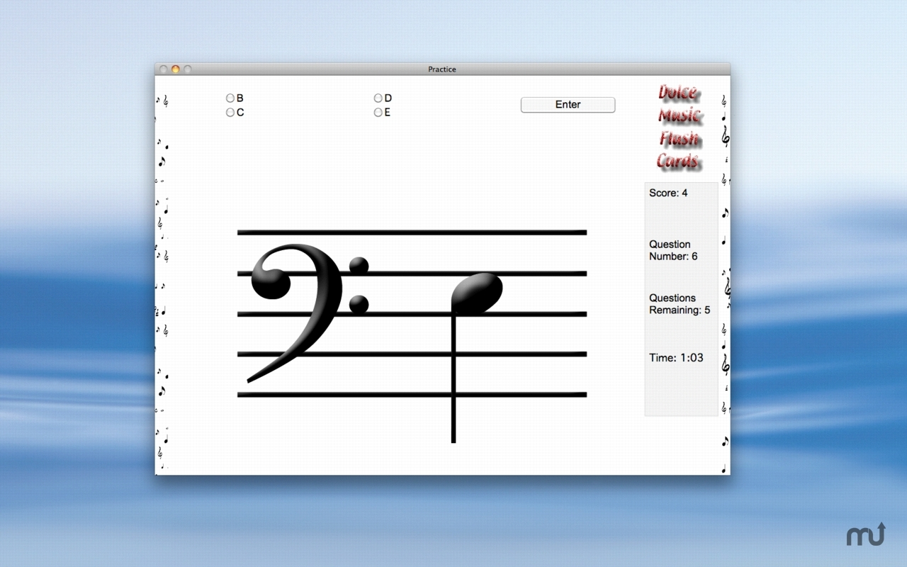 Screenshot 1 for Dolce Music Flash Cards